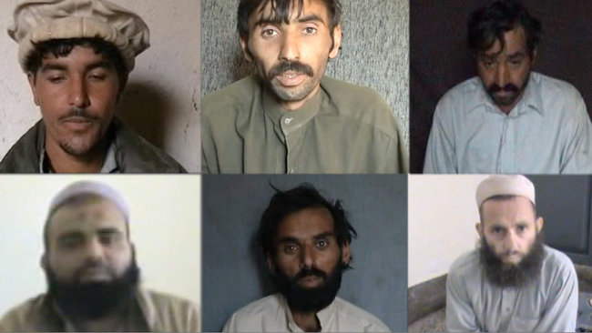Pakistan militants punish accused informers aiding drone attacks by taping their confessions and executions.    NYT 2012