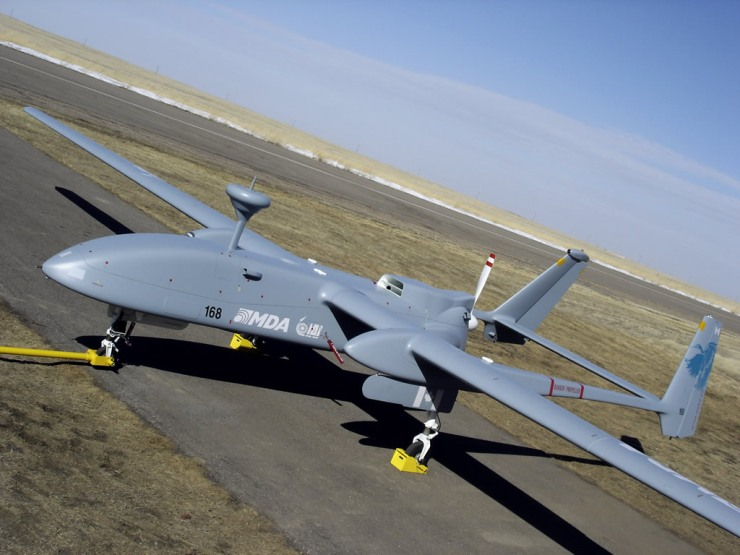 The Israeli Aerospace Industries (IAI) Heron drone. Source: http://www.unmannedsystemstechnology.com/